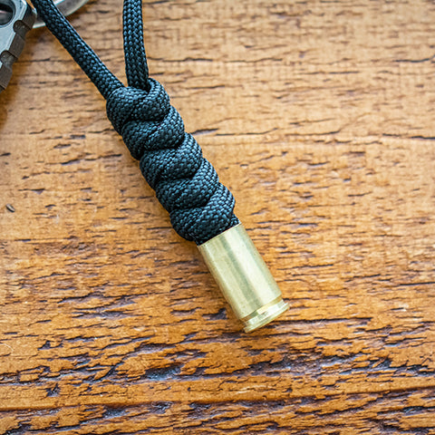 Black 9mm Bullet Keychain