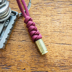 Burgundy 9mm Bullet Keychain