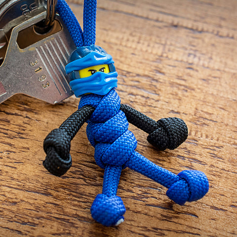 Blue Ninja Paracord Buddy Keychain - Paracord Buddy UK