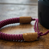 Paracord Camera Strap - Burgundy - Paracord Buddy UK