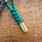 Green 9mm Bullet Keychain