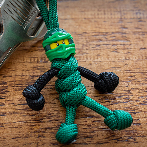 Green Ninja Paracord Buddy Keychain - Paracord Buddy UK