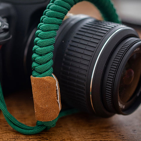 Paracord Camera Strap - Green - Paracord Buddy UK