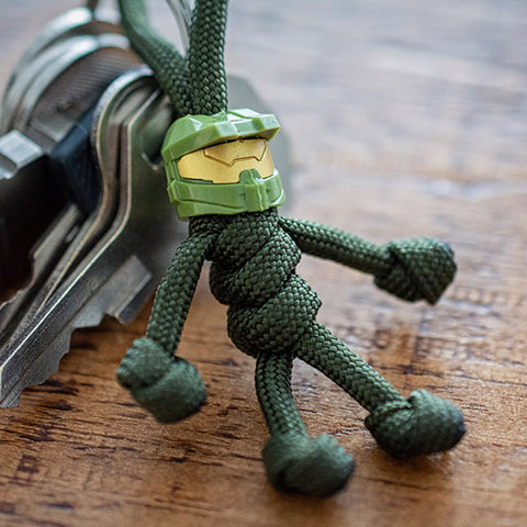 Master Chief Paracord Buddy Keychain - Paracord Buddy UK