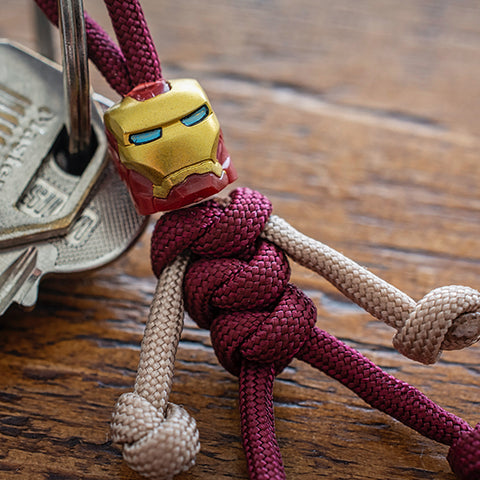 Iron Man Paracord Buddy Keychain - Paracord Buddy UK