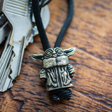 Metalseries© Baby Yoda Paracord Buddy Keychain