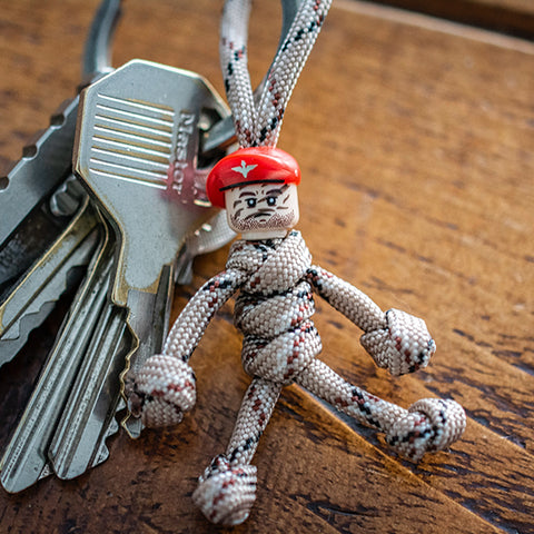 Paratrooper Paracord Buddy Keychain