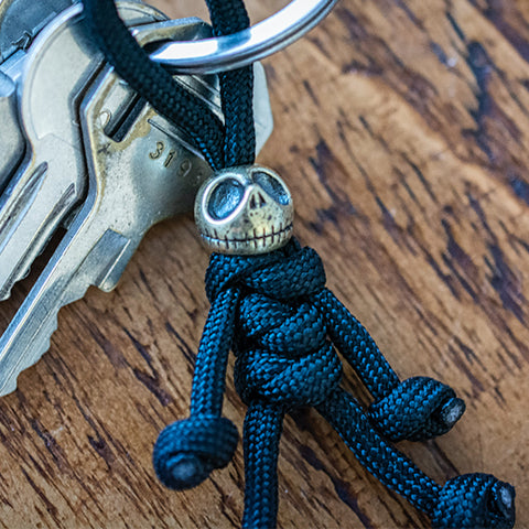 Metalseries© Jack Skellington Nightmare Before Christmas Paracord Buddy Keychain