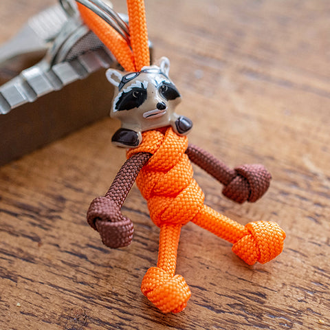 Rocket Raccoon Paracord Buddy Keychain - Paracord Buddy UK