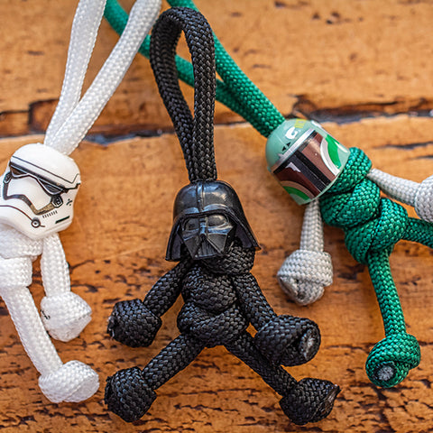 Sci-Fi Paracord Buddy Keychain Bundle