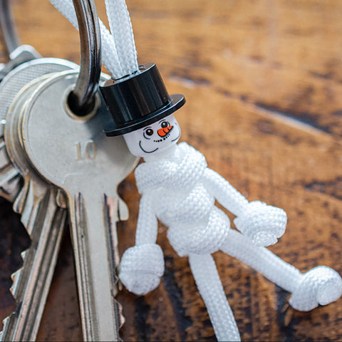 The Snowman Paracord Buddy Keychain