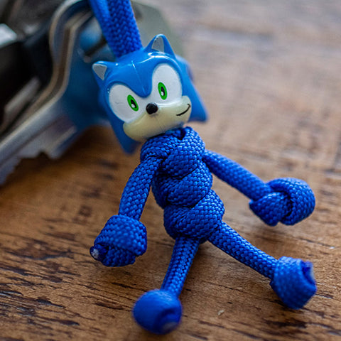 Sonic Paracord Buddy Keychain - Paracord Buddy UK