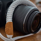 Paracord Camera Strap - White - Paracord Buddy UK