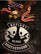Defiant Brotherhood 6 inch Logo Patch