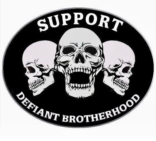 "Defiant Brotherhood 3 1/2"" Support Patch"