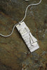 'The Harbour Collection' Block Pendant in Fine Silver