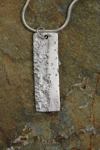 'Waters Edge Collection' Portrait Pendant in Fine Silver
