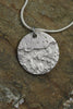 'Waters Edge Collection' Disc Pendant in Fine Silver