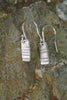 'Moonlight Collection' Block Earrings in Fine Silver