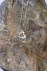 'Paisley Collection' Heart Pendant in Fine Silver with Rose Quartz Stone