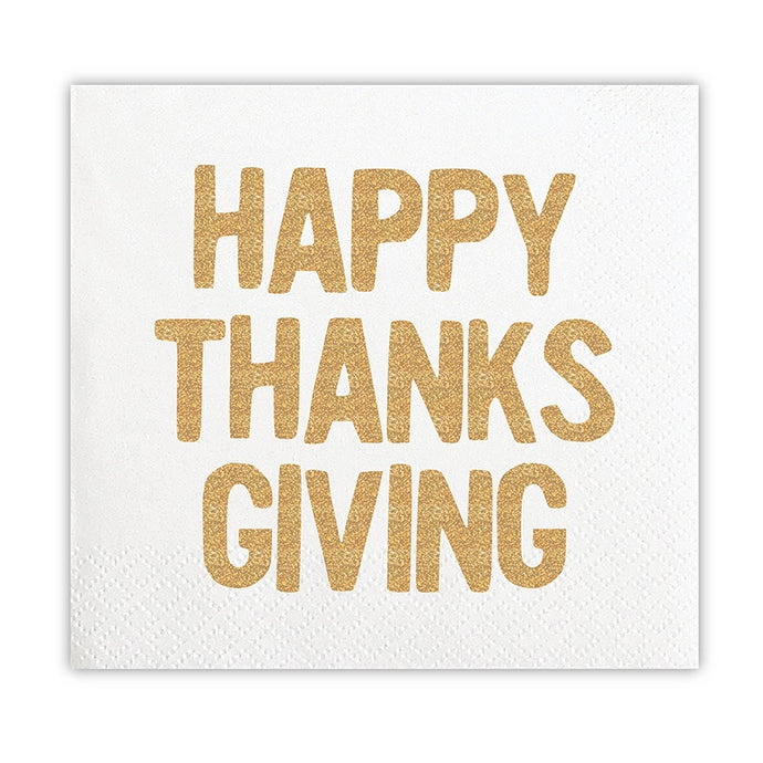 Happy Thanksgiving Beverage Napkins