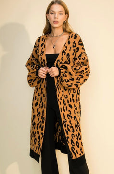 On the Prowl Leopard Duster Cardigan