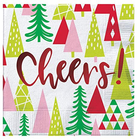 Cheers Holiday Beverage Napkins