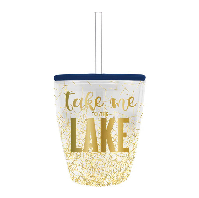 Take Me To The Lake Confetti Tumbler