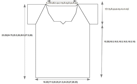 Pattern Sizing Schematic