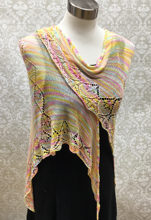 Fountain of Diamonds Shawl Pattern