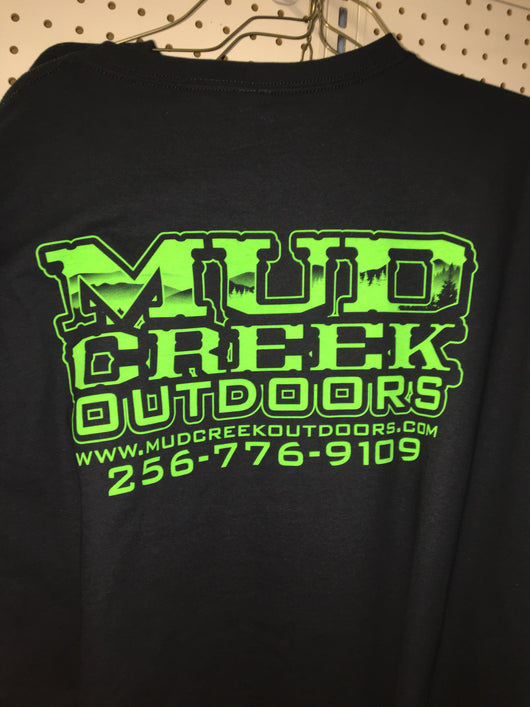 Mud Creek Outdoors T-Shirt Green on Black - Mud Creek Outdoors
