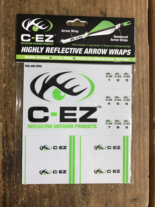 C-EZ Reflective Numbered Arrow Wraps - Mud Creek Outdoors
