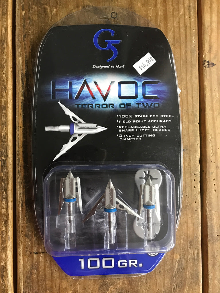 G5 Havoc 2 blade 100 gr - Mud Creek Outdoors