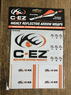 C-EZ Reflective Orange Numbered Arrow Wraps - Mud Creek Outdoors