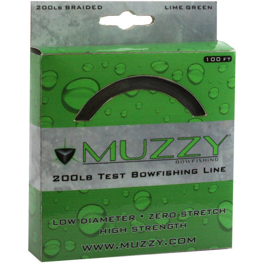 Muzzy 200 LB Test Green Braided Line - Mud Creek Outdoors