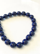Navy Czech Glass Bracelet