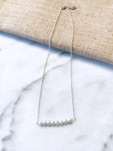 Ivory Pearl Sterling Silver Bar Necklace