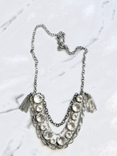 Silver Rhinestone Statement Necklace