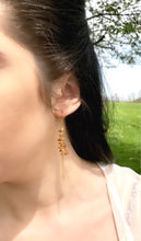 14K Golden Dangled Earrings