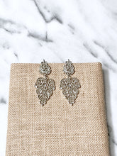 Elaborate Silver Drop Earrings