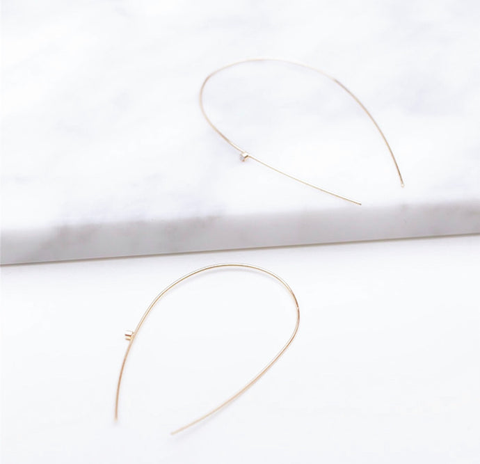 Arc Hoop Gold Earrings