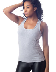 384d0d209ac56 Giselle Strappy Tank Top Heather Grey