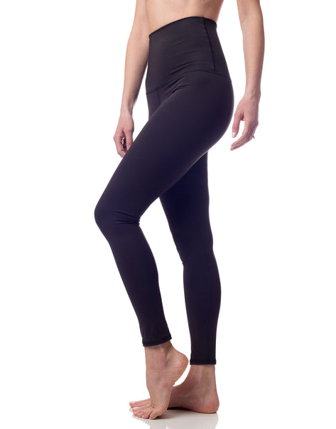 black high waisted opaque yoga workout legging