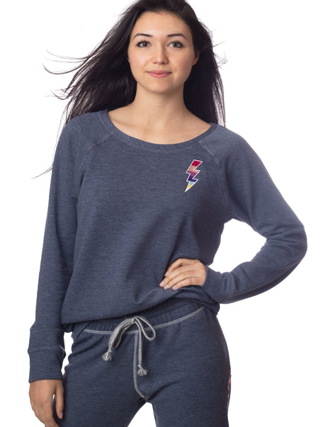 Lightning Bolt Sweatshirt Sky Denim