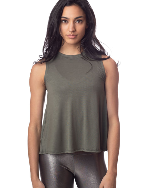 Lucy Tie Back Tank Army