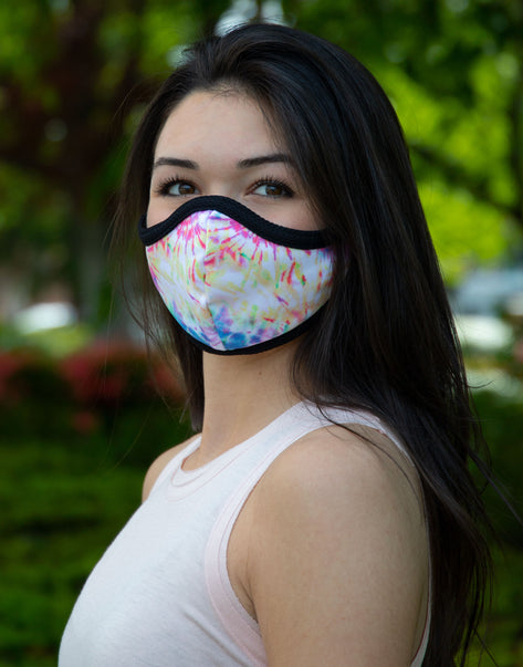 Rainbow Tie Dye Together Mask