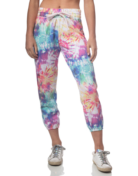 Rainbow Tie Dye Cropped Jogger