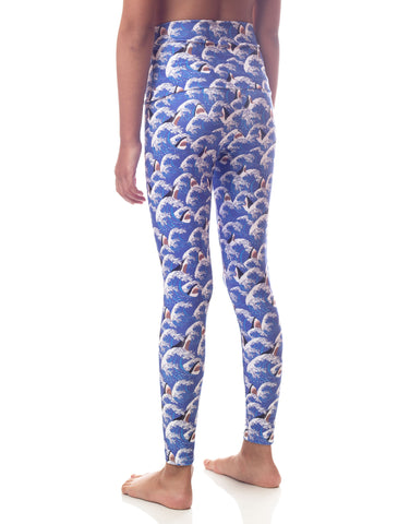 Shark Waves Girl Legging