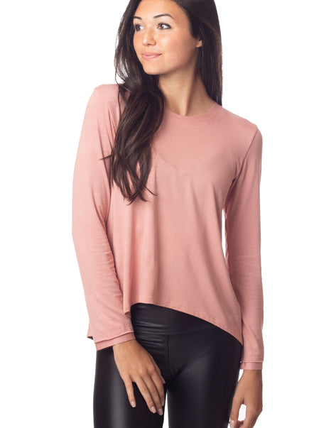 Sunday Long Tee Dusty Pink