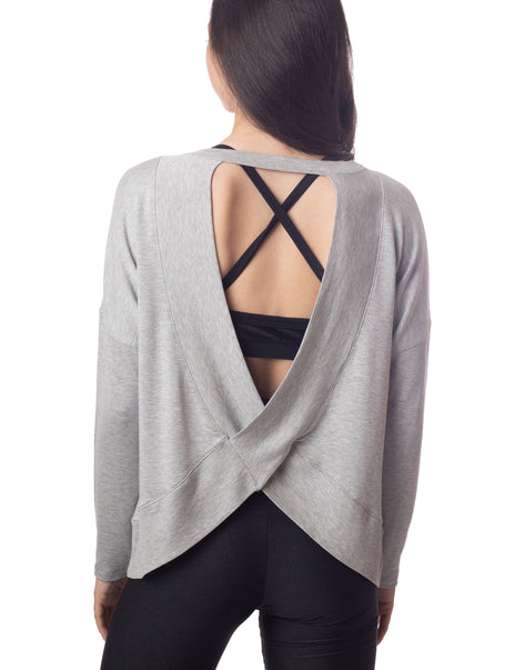 Taylor Open Back Top Heather